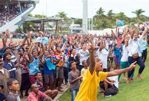 Fiji Rugby Celebration