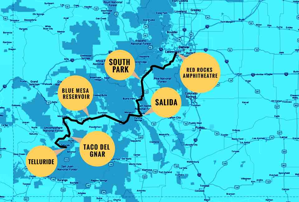 Best Driving Route From Denver to Telluride and Things to See ...