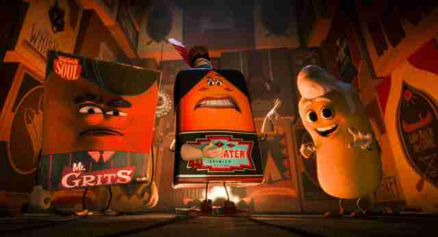 firewater mr. grits and twinkie in sausage party