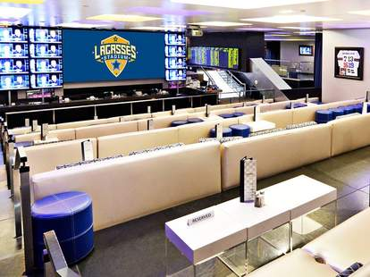 Sports gambling and great burgers at Lagasse's Stadium in Las Vegas