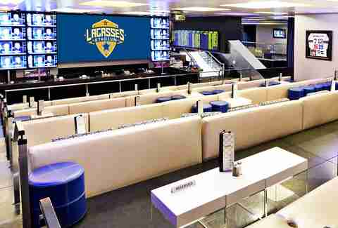 Sports gambling and great burgers at Lagasse's Stadium in Las Vegas
