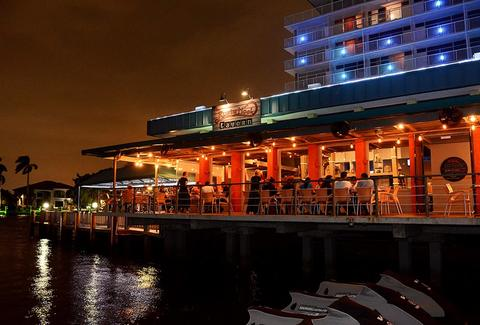 Beachside dining and New American seafood at the Rusty Hook Tavern in Miami