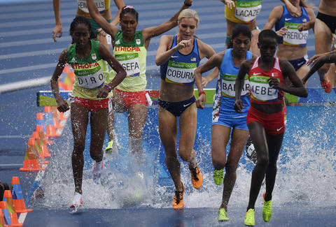 Steeplechase Rio 2016 Water Pit