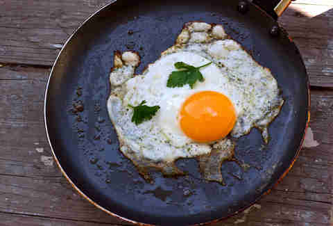 Egg in frying pan