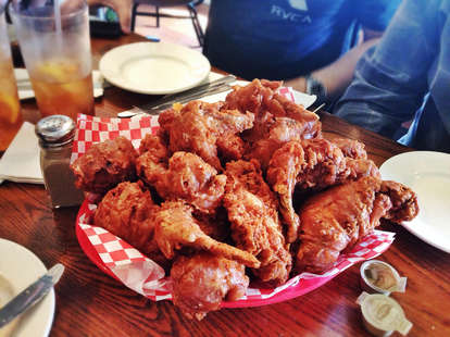 The best fried chicken in America at Willie Mae's Scotch House in New Orleans, LA