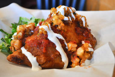 Stuffed frybread Tocabe