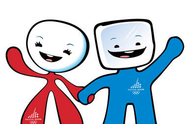 Olympics Neve and Gliz Mascots