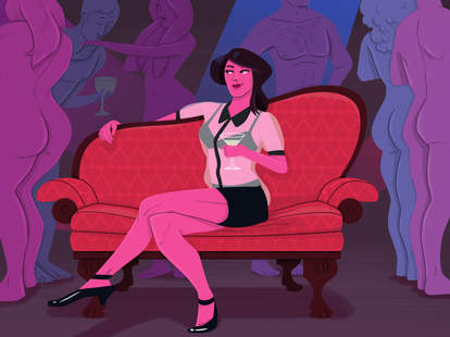 Woman in sex club