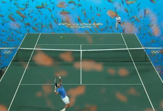 Rio's Green Stadium Let This Guy Transport the Tennis Court Under the Sea and into Star Wars