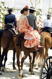 Spain couple horseback