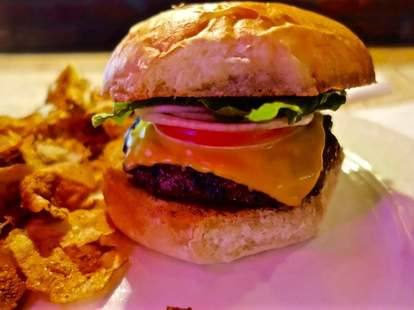 Great burgers and beer at Johnny's Little Bar in Cleveland