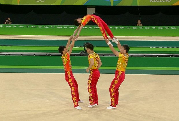 Acrobats at Olympics Use Human as a Jump Rope and It's Amazing, Horrifying