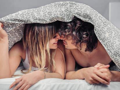 couple under duvet
