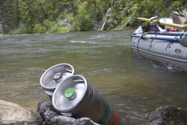 beer in a river