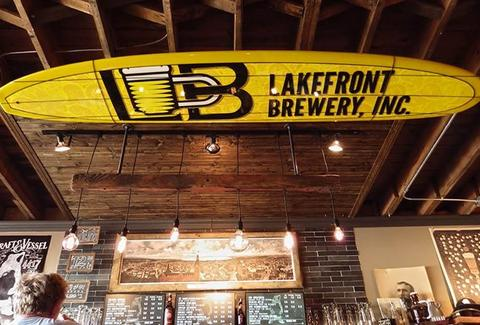 Great beer and fried cheese curds at Lakefront Brewery in Milwaukee