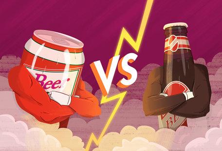 Cans vs. Bottles: Beer\'s Greatest Debate Ends Here