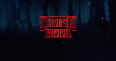 beer stranger things