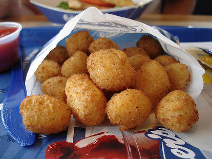 Fried cheese curds at Culver's in Wisconsin