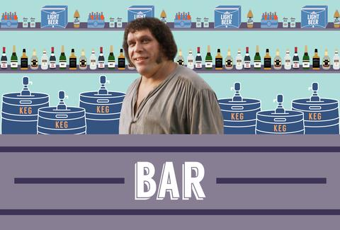 How much could Andre the Giant drink?