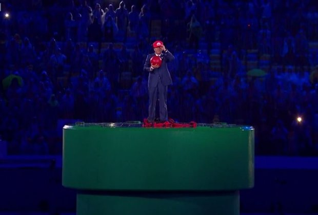 Japanese Prime Minister Shows up to Closing Ceremony as Super Mario