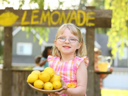 Girl's Lemonade Stand