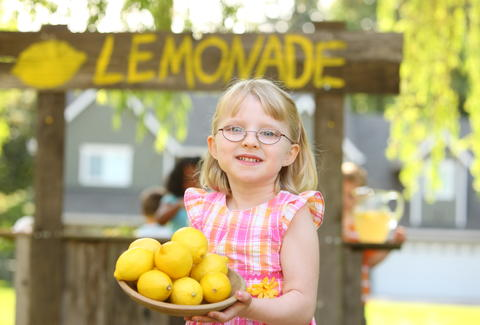 Girl's Lemonade Stand