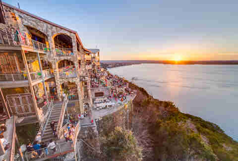 sunset lake travis