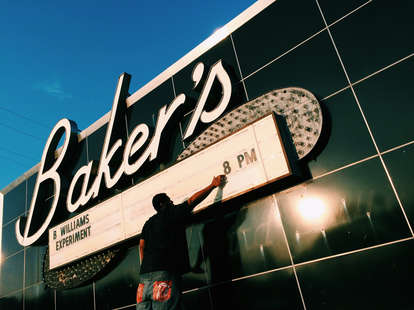Live jazz and soul food at historic Baker's Keyboard Lounge in Detroit, MI