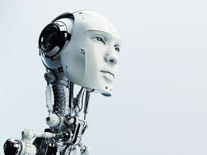 robot head and AI sex dolls