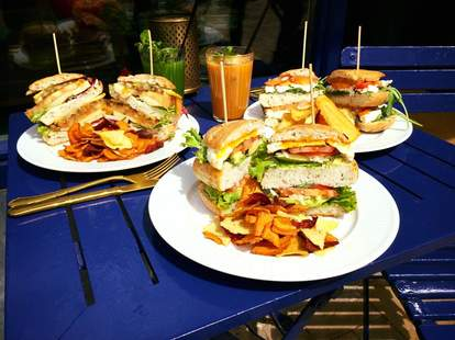 sandwiches on bar james patio amsterdam
