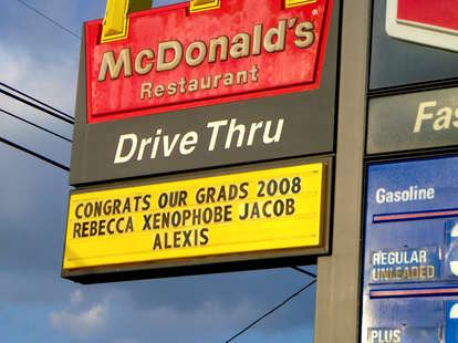 mcdonalds sign fail