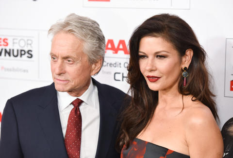 catherine zeta jones and micheal j. douglas