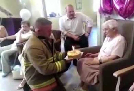105-Year-Old Woman Demands Sexy Firefighters for Her Birthday