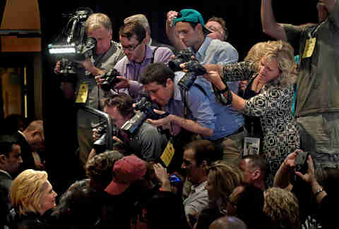 Photographers and Hillary Clinton