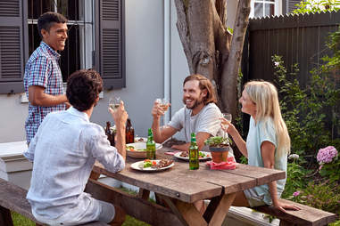 friends patio summer