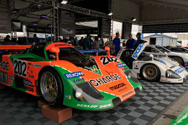 Mazda 767 and 787 race cars