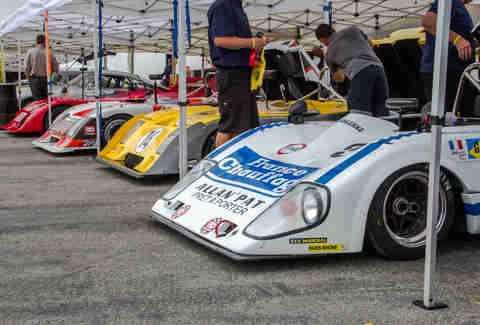 Can Am Racers lined up