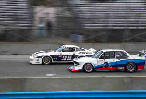Nissan vs BMW Race Cars