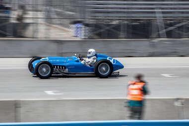 A vintage race car