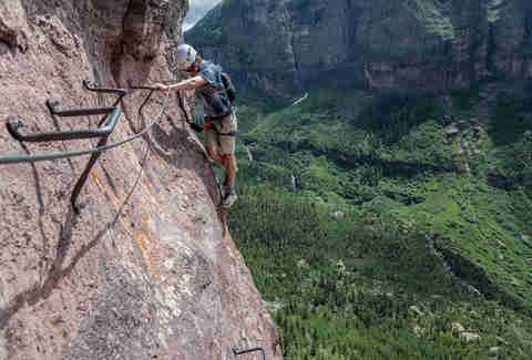 Rock Climbing The Via Ferrata In Telluride Co S San Juan