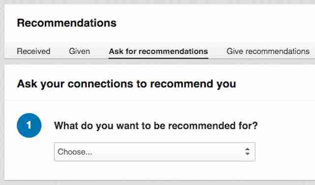 linkedin recommendation form