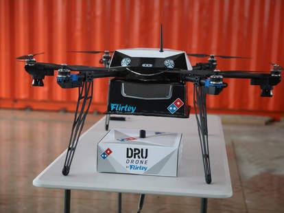 drone delivery pizza Domino's
