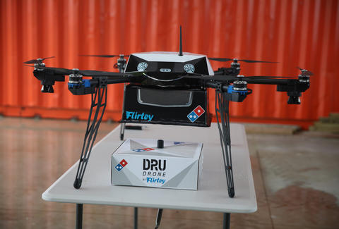drone delivery pizza Domino's