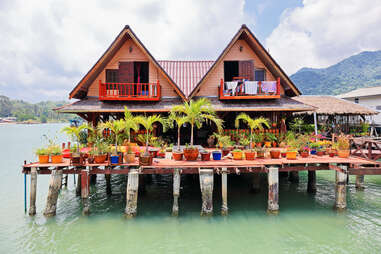 Thailand fishing village