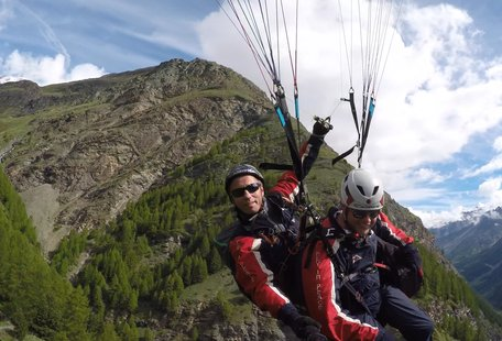 This Footage of Paragliding Over the Alps Is Bonkers