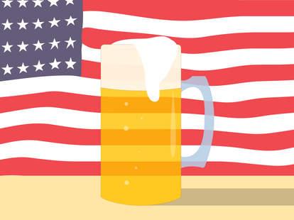 America + beer