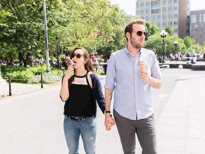 guy and girl on an awkward date