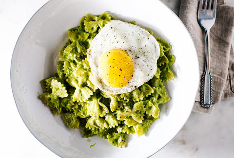 Cooking for one healthy easy single serve meals recipes thrillist avocado pasta i am a food blog forumfinder Image collections