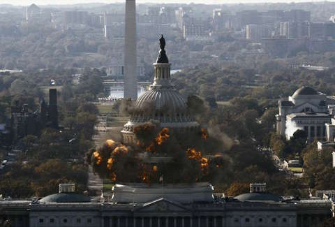 Capitol building destroyed