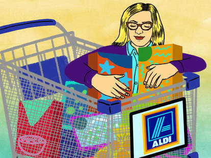 shopping at Aldi